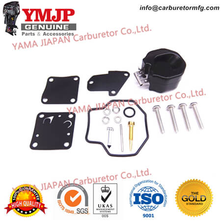 6E3-W0093-00 Carburetor Carb Repair Kit for Yamaha Outboard 4HP 5HP 4M 5M 4T